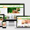 mẫu website bán mỹ phẩm dược phẩm p020